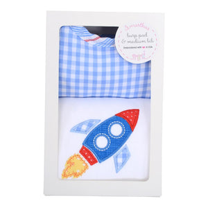 3 Martha's Rocket Burp & Bib Box Set