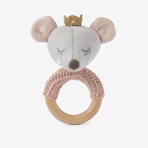 Elegant Baby Ring Rattle, Mouse