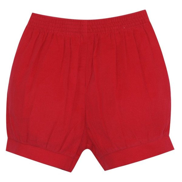 Lullaby Set Sibley Banded Short, Red Cord