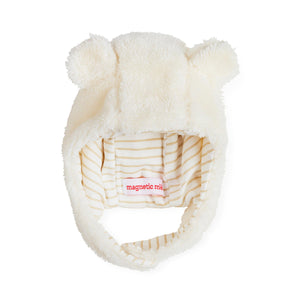 Magnificent Baby Stripe Egret So Soft Minky Magnetic Hat White