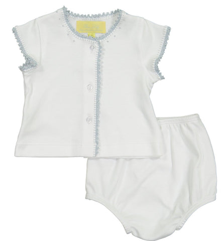 Pixie Lily Blue Jersey Diaper Set