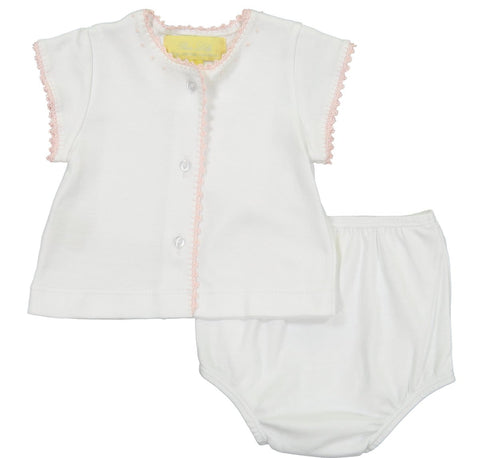 Pixie Lily Pink Jersey Diaper Set