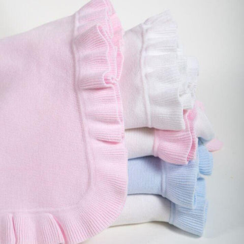 A Soft Idea Jersey Knitted Ruffle Blanket