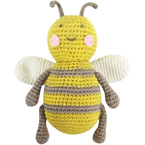 Albetta Crochet Baby Bee Rattle Toy