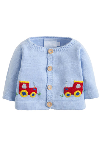 Little English Tractor Crochet Sweater