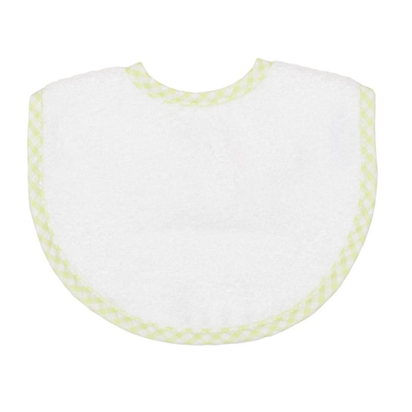 Medium Bib Pique In Gray, Pink, Yellow, Blue and Green Check