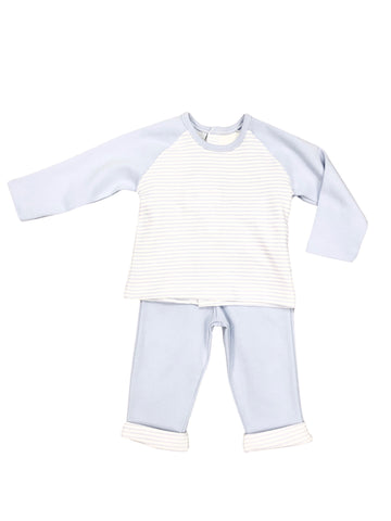 Babidu Sky Blue Striped 2 Piece Set