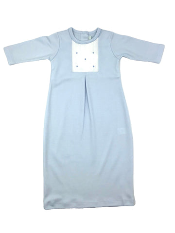 Baby Threads Blue Dots Baby Boy Daygown