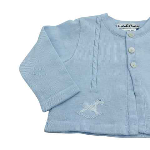 Sarah Louise Blue Rocking Horse Cardigan