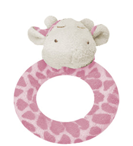 Angel Dear Pink Giraffe Ring Rattle
