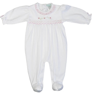 Baby Threads White Rose Footie