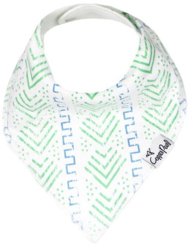 Copper Pearl Jude Blue and Green Pattern Bib