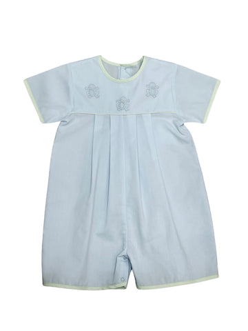 Auraluz Boy Blue/Green Shortall w/ Frog