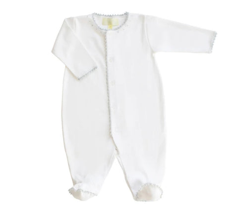 Pixie Lily Jersey Footy Romper Blue