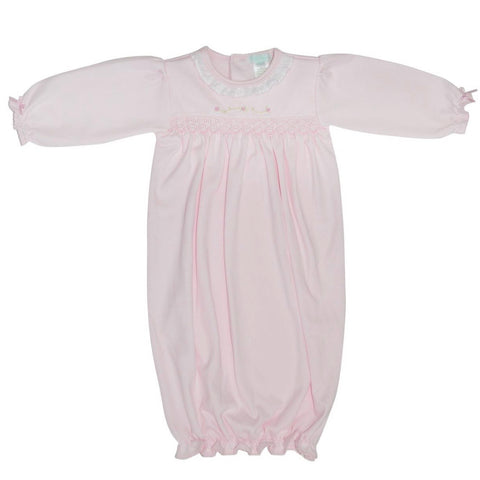 Baby Threads Pink Rosebud Day Gown
