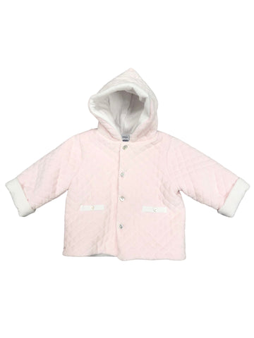 Babidu Pink Quilted Hooded Coat