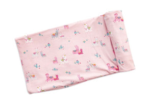 Angel Dear Llama Swaddle Blanket Pink