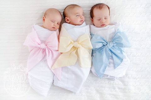 Beaufort Bonnet Bow swaddle Broadcloth