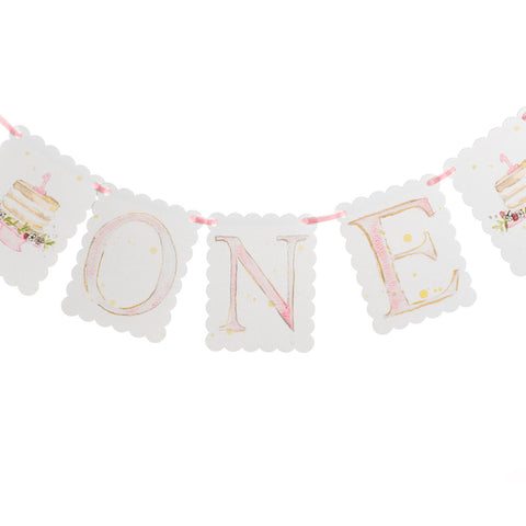 "Over the Moon ""ONE"" Birthday Banner"