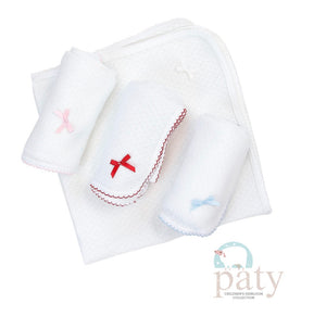 Paty Swaddle Blanket with Colored Trim