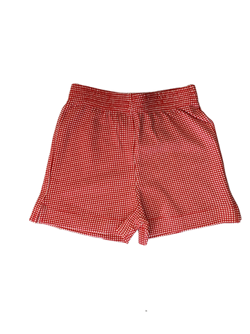 Luigi Red Gingham Shorts