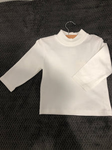 Petit Ami White Basic Turtle Neck Top
