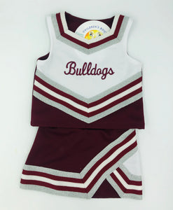 Maroon Bulldogs Cheerleader Uniform