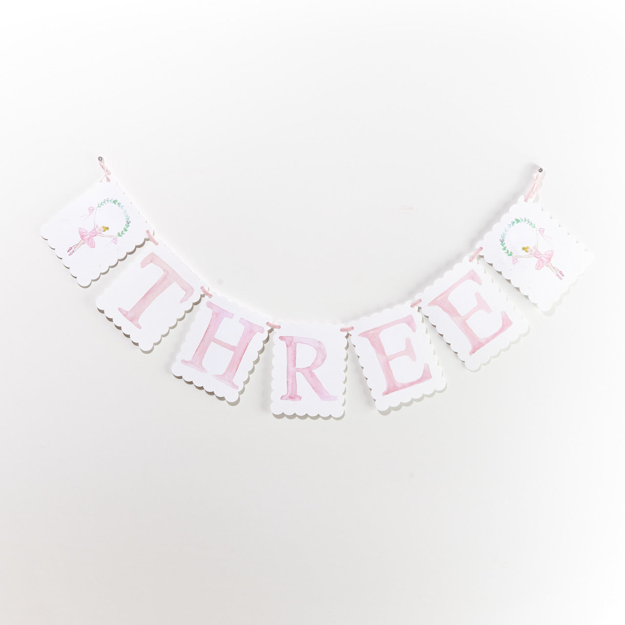 "Over the Moon ""THREE"" Birthday Banner"