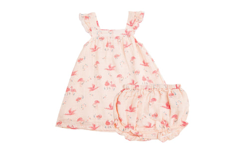 Angel Dear Flamingo Sundress/Diaper Cover