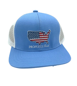 Properly Tied Youth Trucker Cap, Old Glory