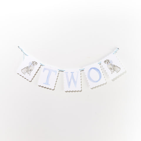 "Over the Moon ""TWO"" Birthday Banner"