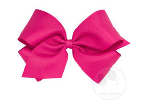 Wee Ones King Grosgrain Bow Shocking Pink