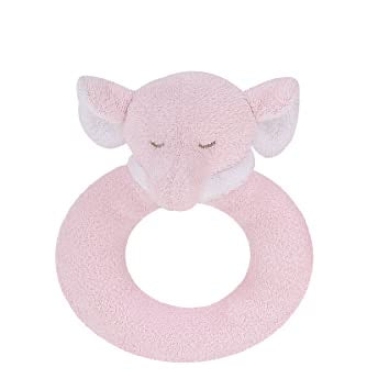 Angel Dear Pink Elephant Ring Rattle