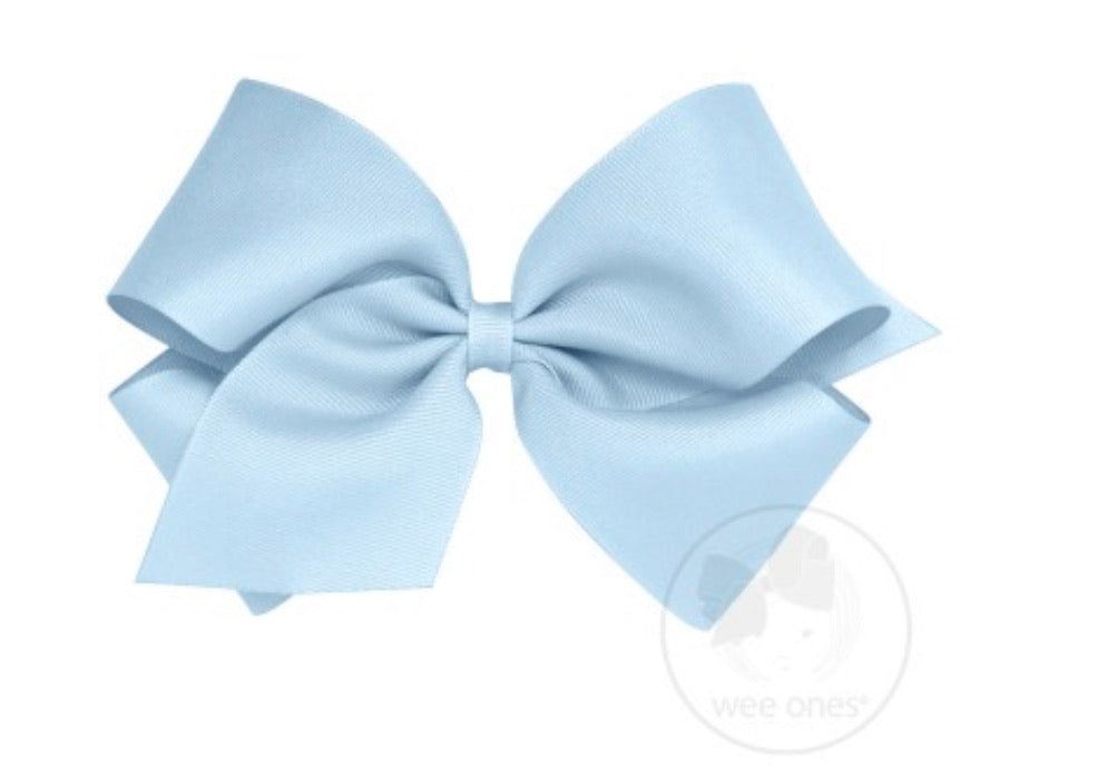 Wee Ones King Grosgrain Bow Millennium Blue