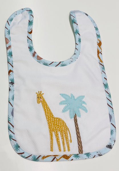 3 Martha's Feeding Bib in Dinosaur, Safari, Butterfly, Football, Golf, Plane, and Pink Kite
