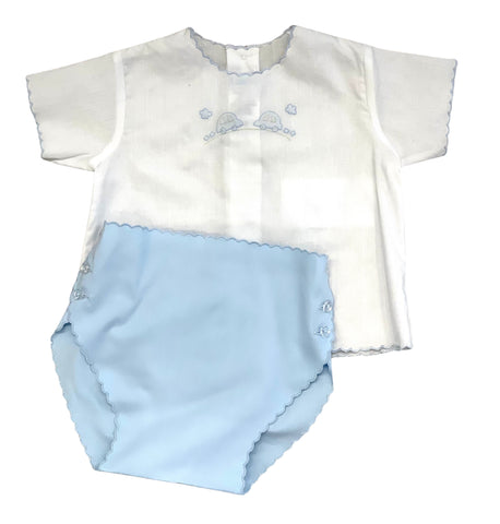 Auraluz Diaper Set Cars with Blue Diaper Cover