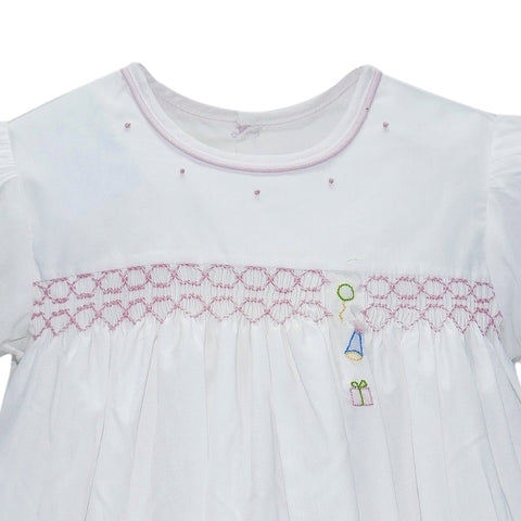 Lullaby Set Girl Dress BIRTHDAY with SMOCKING