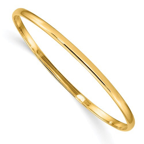 "Quality Gold 14k slip on 5.5"" baby bangle bracelet"