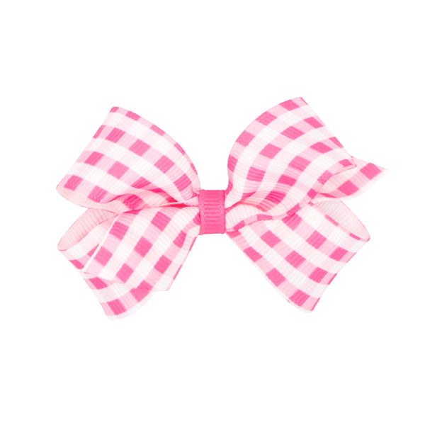 Wee Ones Mini Gingham Grosgrain Bow