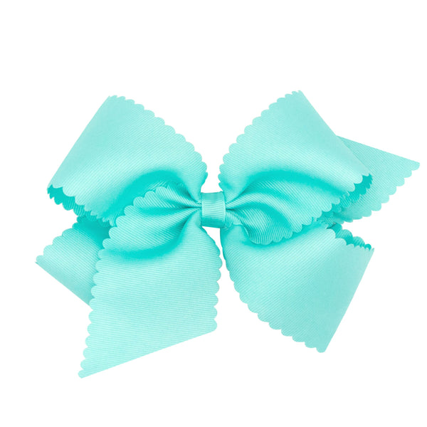 Wee Ones King Scalloped Edge Grosgrain Bow