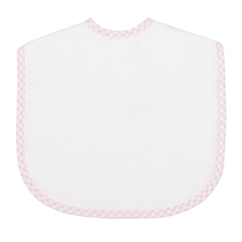 Large Pique Bib in Blue Check, Pink Check, and Green Check