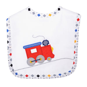 3 Martha's Choo Choo Train Feeding Bib