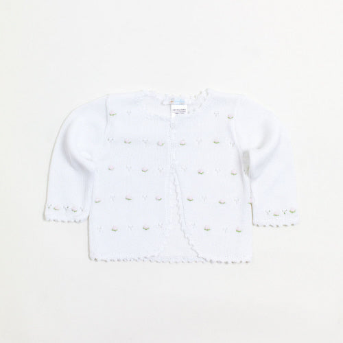 Cuclie Baby Full Flowers Cardigan-White