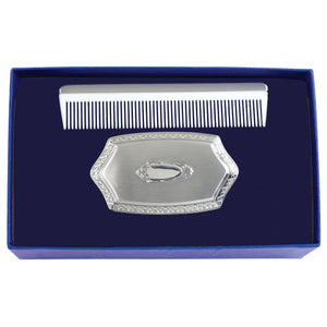 Salisbury Boys Embossed Brush and Comb Gift Set