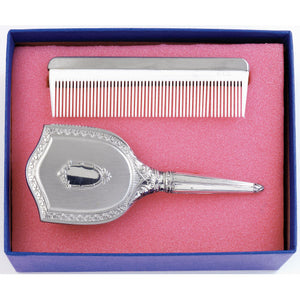 Salisbury Girls Embossed Brush and Comb Gift Set
