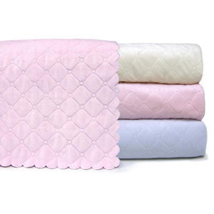 A Soft Idea Nana Quilted Plush Baby Blanket Blue