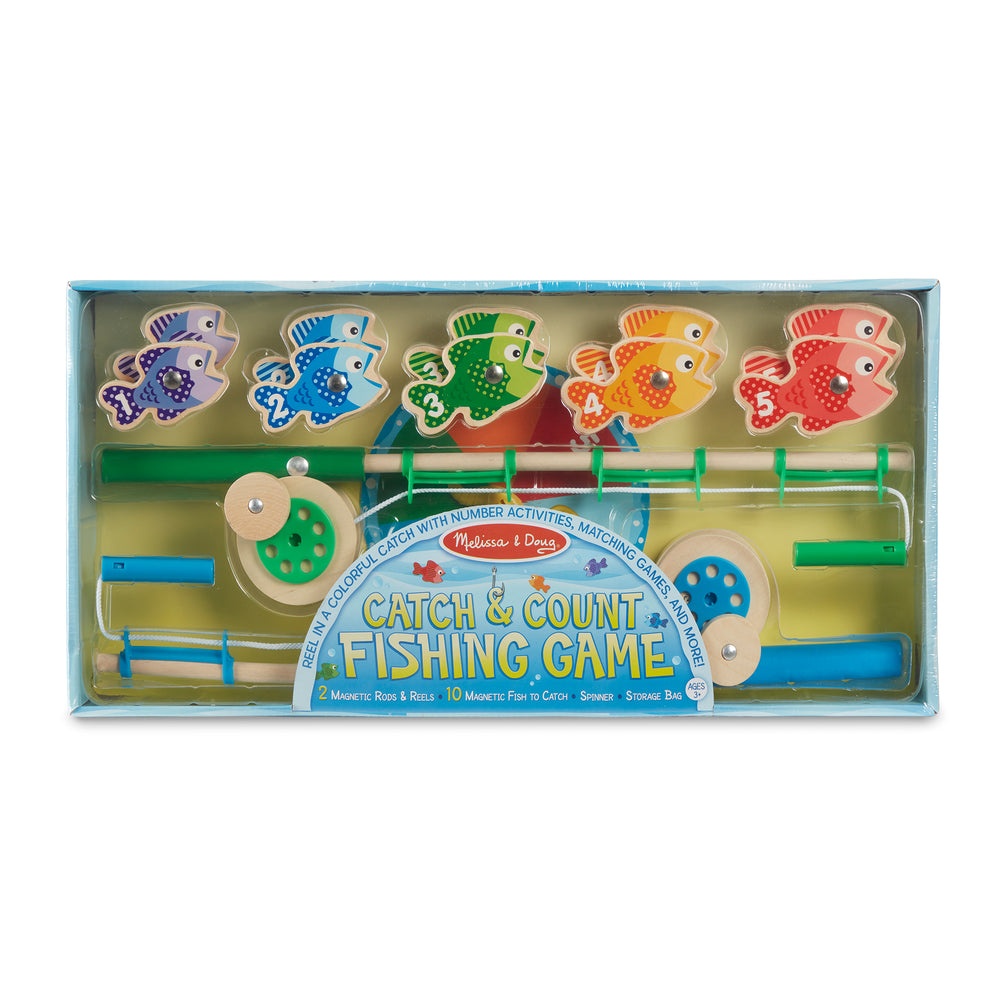 Melissa and Doug Catch & Count Magnetic Fishing Rod Set