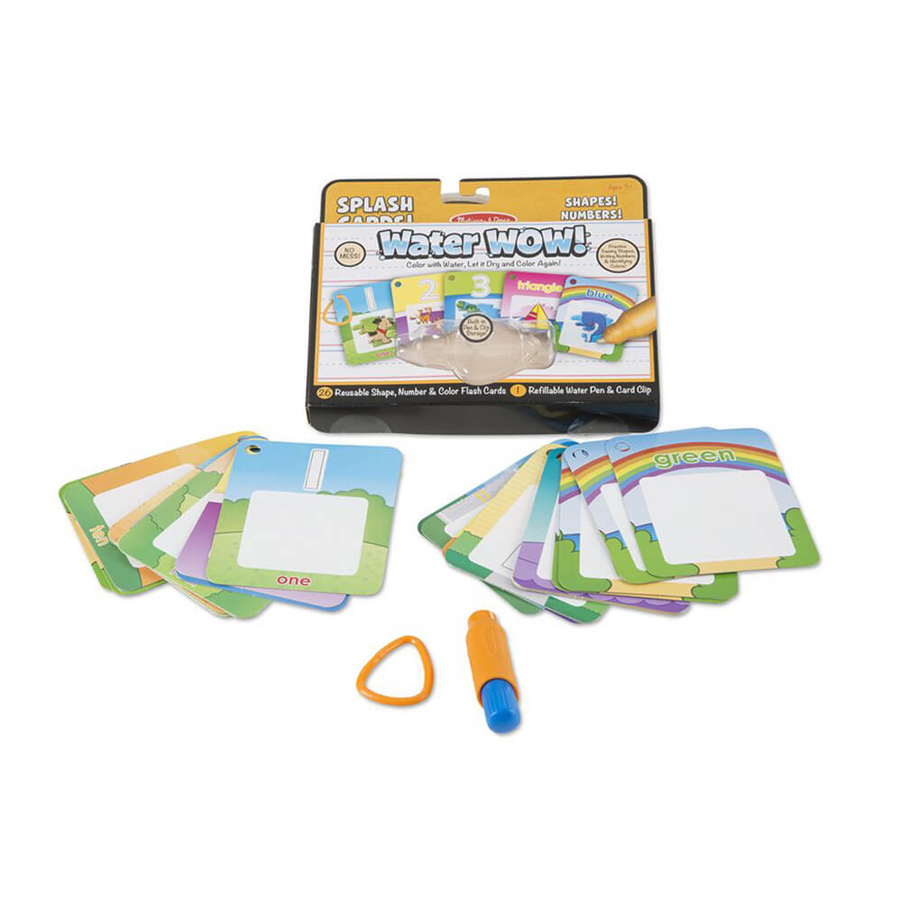 Melissa and Doug Water Wow Numbers, Shapes & Colours Splash Cards