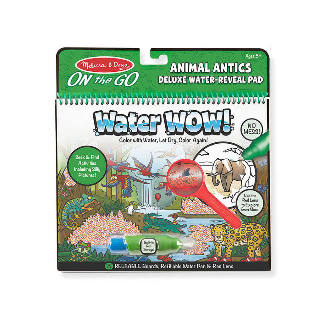 Melissa and Doug Water Wow Animal Antics Deluxe Reveal Pad