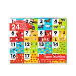 Melissa and Doug Farm Number Floor Puzzle 24pcs